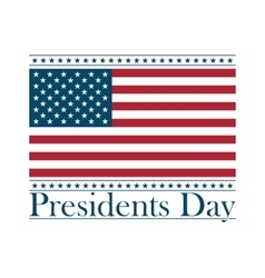 presidents day background united states vector image
