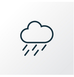 Rainstorm outline symbol premium quality isolated vector