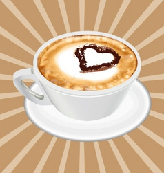 Realistic cappuccino cup vector