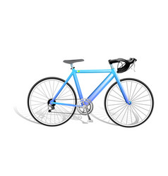 realistic isolated bicycle vector image