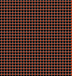 red halftone metal pattern background vector image