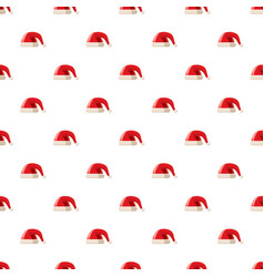 Red hat with pompom pattern vector