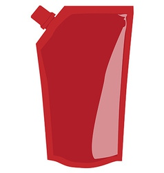 Red sauce package vector image