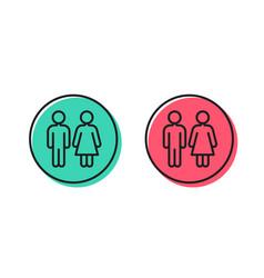 Restroom line icon wc toilet sign vector