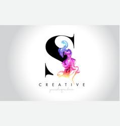S vibrant creative leter logo design vector