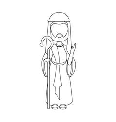 saint joseph cartoon vector image
