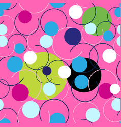 seamless abstract bright pattern circles and vector image