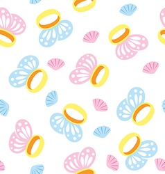 seamless rings vector image