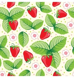 seamless sweet strawberry background vector image