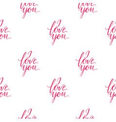 Seamless wallpaper romantic valenine s day i love vector