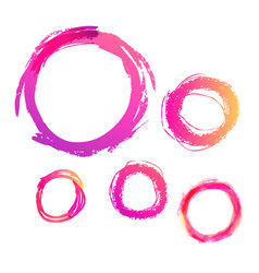 set hand drawn circles design elements vector image