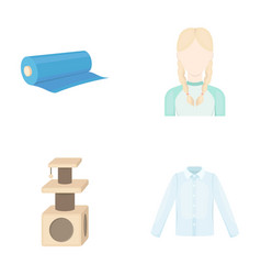 shop atelier hairdresser and other web icon in vector image