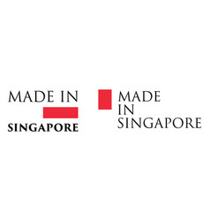 simple made in singapore label text with national vector image