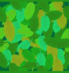 spring leaves seamless background green fresh vector image