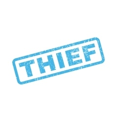 Thief Rubber Stamp vector