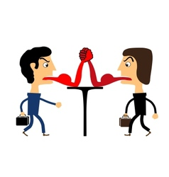 Two people fighting with their tongues vector