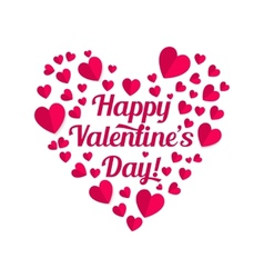 Valentines lettering vector image vector image