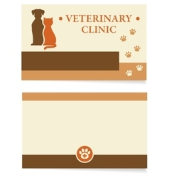 Veterinary clinic business card vector