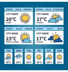 Weather Widget Sketch vector
