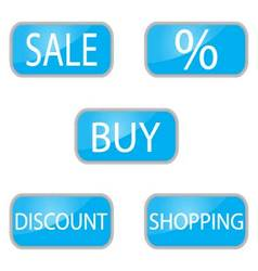 Web button for shooping and online shop vector
