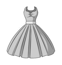 White fluffy wedding dress for a girl wedding vector