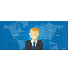 world leader global executive manager corporate vector image