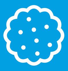Cookies icon white vector