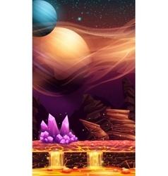 fantastic landscape of red planet vector image