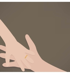 hand wedding rings vector image