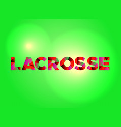 lacrosse concept colorful word art vector image vector image