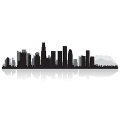 Los Angeles USA city skyline silhouette vector image