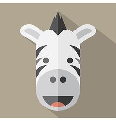 Modern Flat Design Zebra Icon vector image vector image