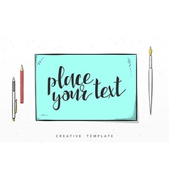 Template design concept sketch for marketing vector image