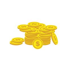 coin dollar finance growth logo vector image
