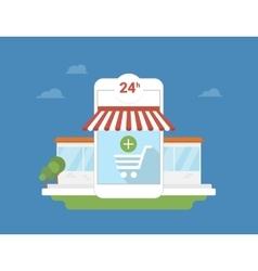 E-commerce mobile application vector image vector image