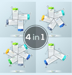 set of four creative infographic design templates vector image