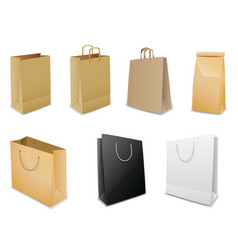 set of vector paper bags vector image vector image