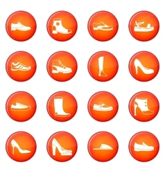 Shoe icons set vector image