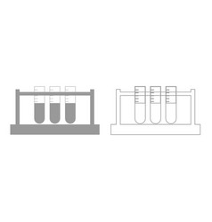 test tube grey set icon vector image