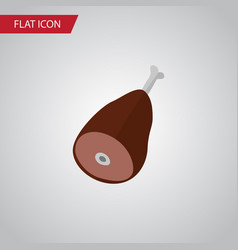 isolated ham flat icon meat element can be vector image