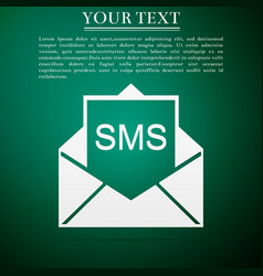 new email incoming message envelope with sms vector image vector image