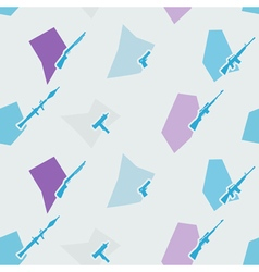 Seamless background with weapons and arms vector image
