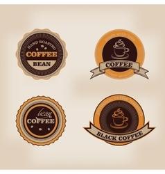 Set of retro coffee house shop badges labels vector image