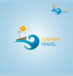 summer travel logo vector image vector image