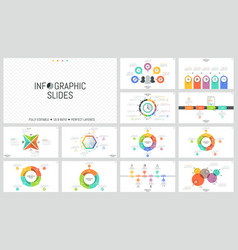 big bundle of simple infographic design templates vector image vector image