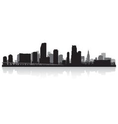 Miami USA city skyline silhouette vector image