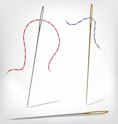 Needles with thread vector