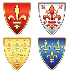 traditional old shields vector image