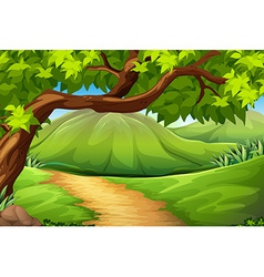 A green environment vector image