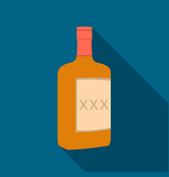 Alcohol icon flate singe western icon from the vector